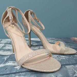 INC 'Reesie' Sparkly Champagne Sandals